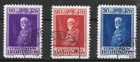 Liechtenstein 1933 - AFA 122-124 - Cancelled