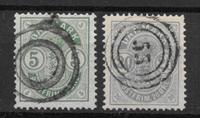Denmark 1882 - AFA 32 + 33 - Cancelled