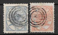Denmark 1865 - AFA 11 + 13 - Cancelled