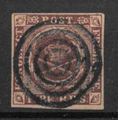 Dinamarca 1851 - AFA I Ferslev - Usado