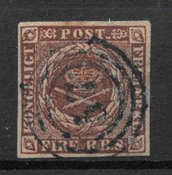Dinamarca 1853 - AFA II b - Usado