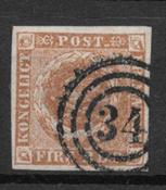 Dinamarca 1854 - AFA IIIb - Usado