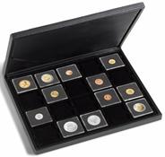 Møntkassette PRESIDO - Til 20 QUADRUM-møntkapsler eller mønter/møntkapsler op til 50 mm Ø