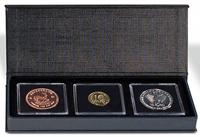 Møntetui - AIRBOX - Sort - 3 Quadrum kapsler - Vippefunktion til præsentation