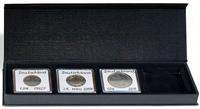 Møntetui - AIRBOX - Sort - 4 Quadrum kapsler - Vippefunktion til præsentation