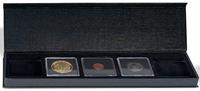 Møntetui - AIRBOX - Sort - 5 Quadrum kapsler - Vippefunktion til præsentation