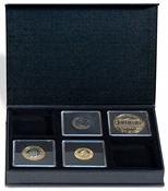 Møntetui - AIRBOX - Sort - 6 Quadrum kapsler - Vippefunktion til præsentation