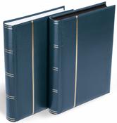 Indstiksbog til breve og postkort - Blå - Str. A4 - 64 hvide sider - polstret indbinding