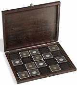 Møntkassette - RUSTIKA - ægte træ - 20 Quadrum kapsler