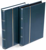 Indstiksbog til breve og postkort - Blå - Str. A4 - 64 sorte sider - polstret indbinding