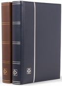 Indstiksbog - Blå - Str. A4 - 64 sorte sider - Læderindbundet