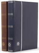 Indstiksbog - Brun - Str. A4 - 64 sorte sider - Læderindbundet