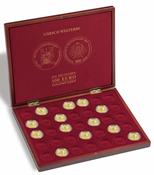 """Møntkassette til 35 tyske 100-Euro guldmønter """"UNESCO Welterbe"""" i originalkapsler"""