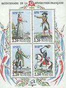 Frankrig - YT nr. 10 - Postfrisk miniark