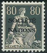 Schweiz - Tjeneste - 1922
