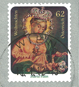 Østrig - Julen 2011 - Stemplet rullefrimærke