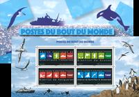 Fransk Antarktis - Post fra verdens ende - Postfrisk miniark