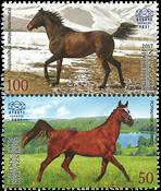 Kirgisistan - Heste fællesudgave med Hviderusland - Postfrisk sæt 2v