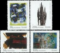 Island - Moderne kunst - Postfrisk sæt 4v