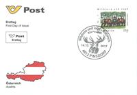 Østrig - Hjorte - Førstedagskuvert