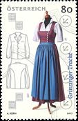 Østrig - Grinzinger folkedragt - Postfrisk frimærke