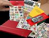 Begyndersæt med frimærker, tørrebog, indstiksbog med 16 sider mm