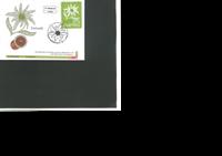 Østrig - Alpeviol broderet frimærke - Flot møntbrev