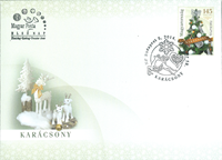 Hungary - Christmas 2014 FDC - First Day Cover