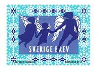 Zweden - Winterengelen - Postfrisse rolzegel
