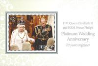 Jersey - 70-jarige Bruiloft Koningin Elizabeth - Souvenirvelletje