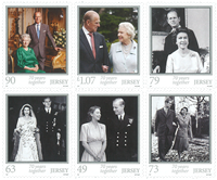 Jersey - 70-jarige Bruiloft Koningin Elizabeth - Postfrisse postzegel