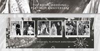 Engeland - 70-jarige Bruiloft - Presentationpack met souvenirvelletje