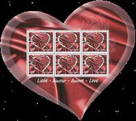 Zwitserland - Love - Postfris souvenirvel