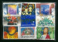 Jul/påske - 100 forskellige frimærker