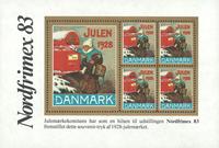 Danmark 1983 Nordfrimex/1928 julemærkeblok ng