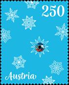 Autriche - Ornament de Noël avec véritable cristal   de Swarovski - Timbre neuf