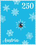 Østrig - Juleornament med ægte Swarovski krystal - Postfrisk frimærke