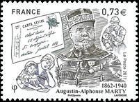 Frankrig - A.Alphonse Marty - Postfrisk frimærke