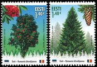Estland - Træer - Postfrisk sæt 2v