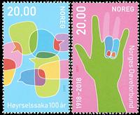 Norge - Høre/døveforbund - Postfrisk sæt 2v
