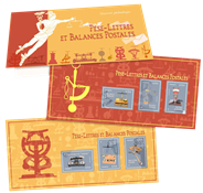 Frankrig - Brevvægte - Postfrisk miniark i folder