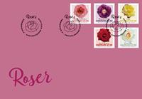 Danmark - Roser - Førstedagskuvert