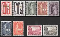 Bélgica 1928 - AFA 235-243 - Nuevo con charnela