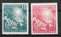 Alemania Occidental 1949 - AFA 1074-1075 - Nuevo con charnela