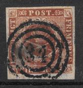 Dinamarca 1854 - AFA IIIe - Usado