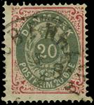 Danmark 1875,AFA nr.28Y-stemplet