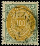 Danmark 1875,AFA nr.31- stemplet