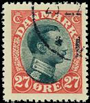 Danmark 1918,AFA nr.102-stemplet