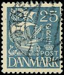 Danmark 1933,AFA nr.205-stemplet