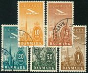 Danmark 1934,AFA nr.216-20-Stemplet